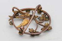 Edwardian Circular Brooch / Pendant with Swallow & Pearls & Turquoise (2 of 2)