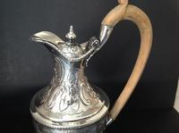 Antique Georgian Silver Crested Claret Jug - HEMING 1777 (5 of 7)