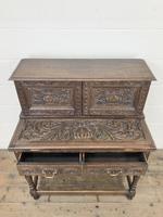 Antique Oak Carved Desk (2 of 13)