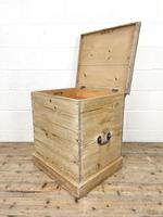 Antique Stripped Pine Storage Box or Trunk