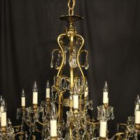 French Gilded Bronze 16 Light Antique Chandelier (8 of 10)