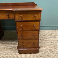 Quality Victorian Mahogany Antique Pedestal Desk (4 of 8)