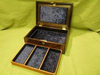 Inlaid Unisex Rosewood Jewellery Box + Tray. c1835