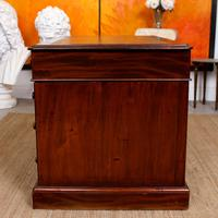 Mahogany Leather Desk 19th Century Victorian Kneehole Twin Pedestal (12 of 14)