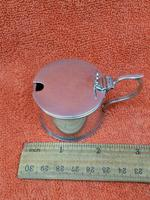 Antique Sterling Silver Hallmarked Mustard Pot & Blue Liner 1933, S Blanckensee & Son Ltd, Birmingham (5 of 10)