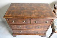 Walnut Oyster Veneer Chest of Drawers (3 of 12)