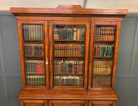 Fine Quality Figured Mahogany Library Bookcase (7 of 17)