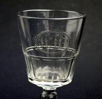 Good Regency Bucket Bowl Monogrammed Cut Glass Rummer c.1820 (2 of 6)