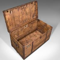 Large Antique Steamer Trunk, English, Pine, Travel, Shipping Chest, Victorian (8 of 12)