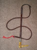 Vintage SWAINE ADENEY BRIGG Plaited Leather Gents Hunt Whip W/Beaufort Thong