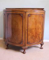 Figured Walnut Demi Lune Sideboard Side Cabinet (2 of 10)