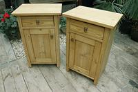 Fabulous! 'Chunky' Pair of Old Pine Bedside Cabinets - We Deliver! (2 of 8)