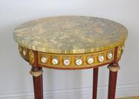 Good Louis XVI Style Marble & Kingwood Lamp Table (4 of 8)