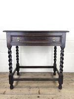 Antique Oak Side Table with Drawer (2 of 10)
