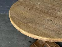 French Round Bleached Oak Farmhouse Dining Table (4 of 19)