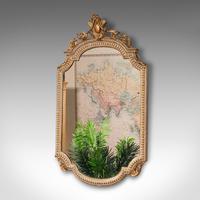 Antique Gesso Wall Mirror, Italian, Giltwood, Glass, Shield, Victorian c.1900 (3 of 10)