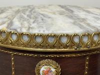 Decorative French Louis Revival Style Marble Top Side Table with Romantic Sèvres Plaques (29 of 38)