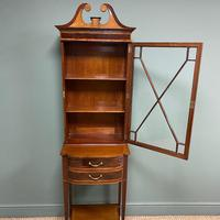 Quality Tall Slim Mahogany Victorian Antique Bookcase (6 of 8)