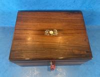 William IV Rosewood Jewellery Box with Mother of Pearl Inlay (4 of 12)