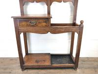 Antique Oak Arts & Crafts Mirrored Hall Stand (2 of 11)