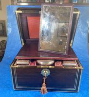 Georgian  Rosewood Brassbound Vanity Box (17 of 34)