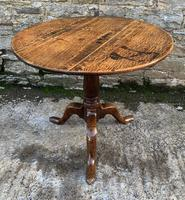 Large Georgian Oak Tilt Top Occasional Table (18 of 21)