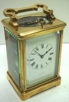 Good Antique French 8-day Repeat Carriage Clock Bevelled Case with Enamel Dial Gong Striking (11 of 15)