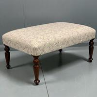 Newly upholstered Victorian footstool