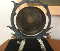 Foliage Design Brass Table Gong (4 of 5)