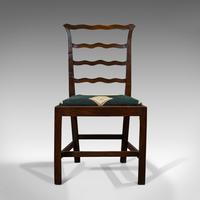 Pair of Antique Ladder Back Chairs, Irish, Mahogany, Side, Georgian c.1780 (10 of 11)