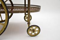 1960's Vintage French Brass Drinks Trolley (7 of 13)