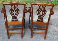 1920s Pair of Mahogany Carver Chairs with Pop-out Seats (3 of 3)