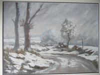 Winter Landscape - Oil on Board - Unsigned (2 of 5)