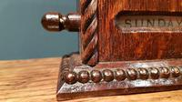 Antique Edwardian Polished Oak Perpetual Desk Calendar (2 of 7)