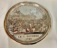 Antique 19th Century French Silver Plated Snuff Box Siege of the Bastille Snuff Box