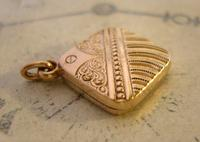 Antique Pocket Watch Chain Fob 1890 Victorian 10ct Rose Gold Filled Puffy Fob (8 of 10)
