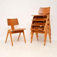 1950's Set of 6 Robin  Day Hillestak Dining Chairs for Hille (2 of 9)