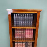 Tall Slim Victorian Mahogany Antique Open Bookcase (4 of 6)