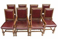 Set of Oak Dining Chairs English Antique Farmhouse Furniture (2 of 13)