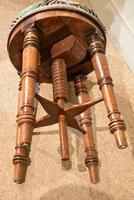 Regency Walnut Adjustable Piano Stool (6 of 6)
