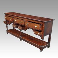 George III Oak Pot Board Dresser Base (3 of 13)