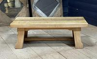 French or Scandinavian Bleached Oak Coffee Table (15 of 15)