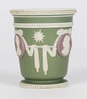 Wedgwood Georgian Three Color Jasperware Medallion Vase c.1790 (7 of 15)