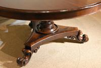 William IV Large Circular Breakfast / Dining Table (5 of 8)