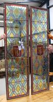 1880's Pair of Long Narrow Stained Glass Panels (2 of 2)