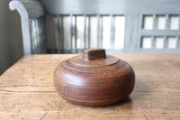 Scandinavian / Swedish 'Folk Art' Large wooden sliding-lid bowl late 19th Century