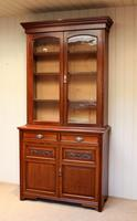 Walnut Cabinet Bookcase by James Shoolbred & Co (2 of 12)