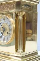 French Belle Epoque Brass Mantel Clock, 1890s (5 of 8)