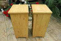 Nice Quality Old Stripped Pine Bedside Cabinets (8 of 9)