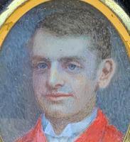 Fine 19thc Miniature Watercolour Portrait Painting of 'William George Dickinson' (5 of 11)